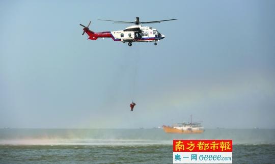 海上救援联合演练 无人机首度亮相
